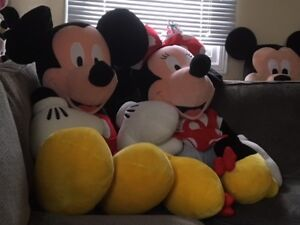 Mickey and Minnie Mouse (3'tall)