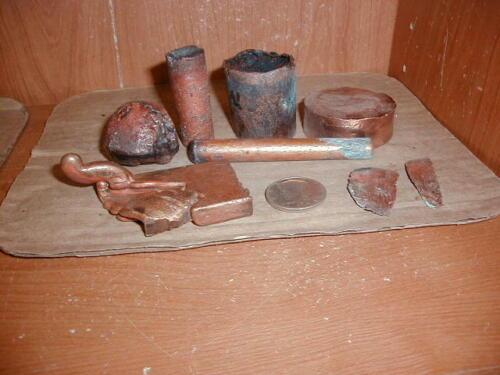 White Pine Copper Mine, Native Copper & Cast Copper Items, 13 Pieces