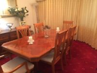 Beautiful 6 seater dining table and chairs for sale