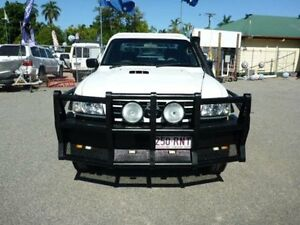2006 Nissan Patrol GU II DX White Manual Cab Chassis Rosslea Townsville City Preview