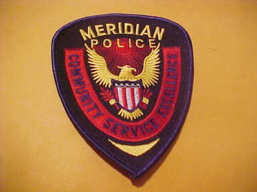 MERIDIAN MISSISSIPPI  POLICE PATCH SHOULDER SIZE UNUSED TYPE 2