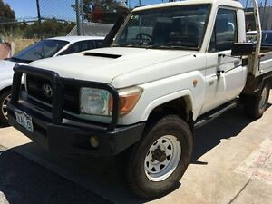2009 Toyota Landcruiser VDJ79R Workmate White 5 Speed Manual Cab Chassis Edgewater Joondalup Area Preview