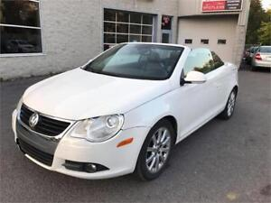 2008 Volkswagen Eos Lux CONVERTIBLE CUIR TOIT MAGS FULL LOADED