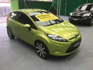 2009 Ford Fiesta WS CL Green 4 Speed Automatic Hatchback Five Dock Canada Bay Area Preview