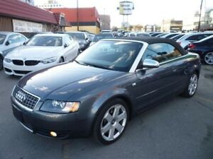 2004 Audi S4 RARE 6 SPD MAN/ALLOYS/POWER TOP/ONLY 90000 KMS !!