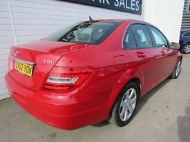 MERCEDES-BENZ C CLASS 2.1 C220 CDI BLUEEFFICIENCY EXECUTIVE SE 4d 168 BH (red) 2012