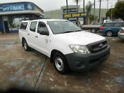 2009 Toyota Hilux TGN16R 09 Upgrade Workmate White 5 Speed Manual Dual Cab Pick-up Homebush West Strathfield Area Preview