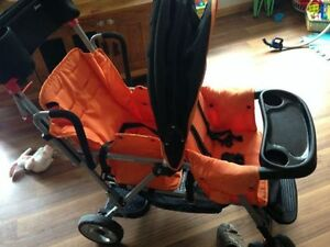 Joovy Caboose with extra seat and infant carrier attachment