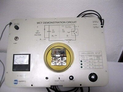 Harris Electrical Lab Equip Oscilloscope Mct Demo Circuit Semiconductor Teaching