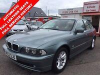 BMW 5 SERIES 2.5 525I SE 4d AUTO 190 BHP FULL LEATHER INTERIOR, (green) 2002