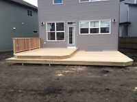 have your deck built before the winter!!!