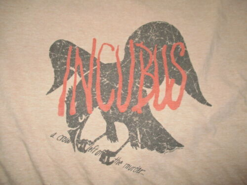 INCUBUS A Crow Left of the Murder Concert Tour (LG) T-Shirt Brandon Boyd