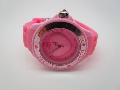 Ice Watch Ladies Ice Love Pink Small Silicone Watch LO.PK.S.S.10   (1Y)