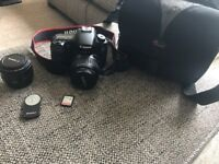 Canon 60D with 2 lenses and much more