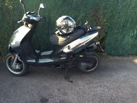 Jm star madness 125cc moped with accessories