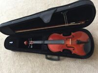 Full size beginners violin with case