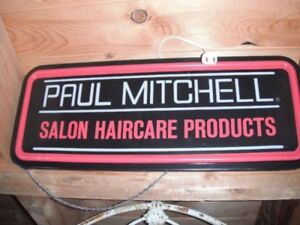Paul Mitchell Hair products lighted sign