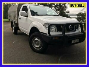 2014 Nissan Navara D40 S6 MY12 ST White Manual Utility Lansvale Liverpool Area Preview
