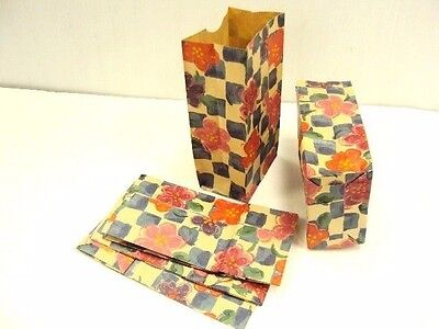 150 Paper Merchandise Gift Jewelry Candy Party Goody Treat Bag Floral Check 4x8