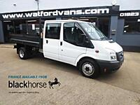 2013 Ford Transit T350 2.2TDCi Double Cab Tipper E/W Diesel white Manual