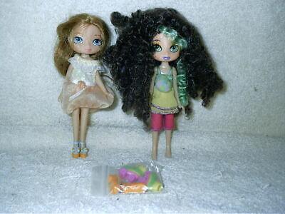 "2 Bratz Kidz 5"" Dolls Brunette & Redhead Extra Shoes MGA"
