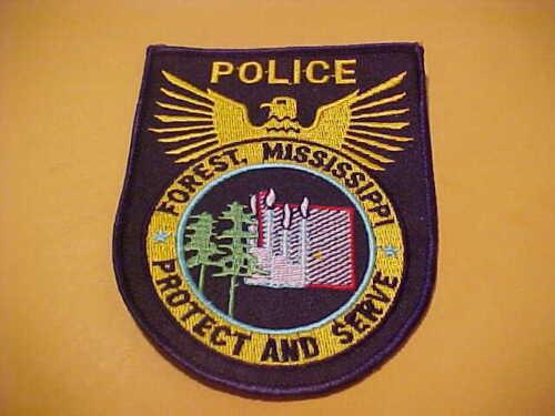 FOREST MISSISSIPPI  POLICE PATCH  SHOULDER SIZE UNUSED