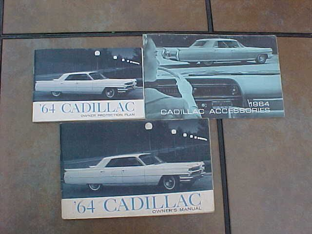 ORIGINAL VINTAGE 1964 CADILLAC OWNERS MANUAL & ACCESSORIES BOOKLET