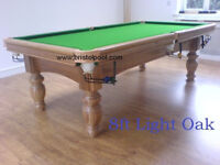 8ft Oak Slate Bed Snooker Table In Mint Condition