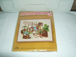 SUNSET EMBROIDERY KITS NEW