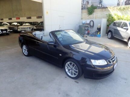 2007 Saab 9-3 442 MY2007 Linear Sport Black 5 Speed Sports Automatic Convertible Wangara Wanneroo Area Preview