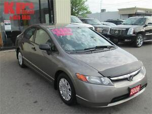 2006 HONDA CIVIC ! LIKE NEW ! VERY CLEAN ! WELL MAINTAINED !