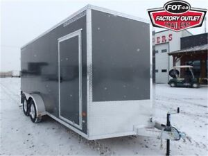 "7 x 16 All-Aluminum Cargo Trailer - 82"" Interior Height *TAX IN*"