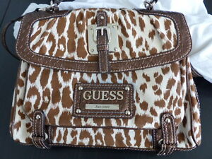 3 NEW GUESS patent leather handbag, laptop briefcase, File case