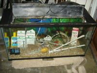 BIG FISH TANK COMPLETE EVERY THING INSIDE INCLUDED CALL