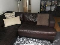 LEATHER CONER SOFA - COLLECTION ONLY