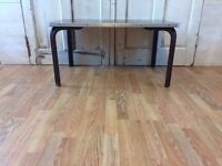 Vintage mid century industrial coffee table Made by du-al a dare-inglis