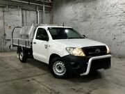 2009 Toyota Hilux TGN16R MY09 Workmate 4x2 White 4 Speed Automatic Cab Chassis Mile End South West Torrens Area Preview