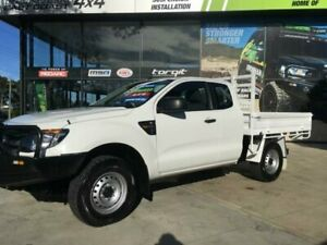 2013 Ford Ranger PX XL 3.2 (4x4) White 6 Speed Manual Super Cab Chassis Tuncurry Great Lakes Area Preview