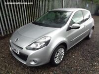 RENAULT CLIO 2010 1.2 DYNAMIQUE TOM TOM FACELIFT 3 DOOR SILVER 83,000 MILES M.O.T TILL 23/05/18