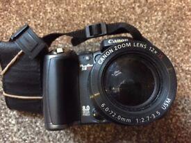 "Canon PowerShot S5 IS Digital Camera - Black (8.0MP, 12x Optical Zoom) 2.5"" LCD"