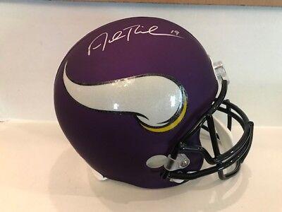 86eed78be Adam Thielen Signed Minnesota Vikings Full Size Replica Helmet COA Hologram