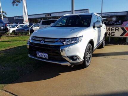 2017 Mitsubishi Outlander ZK MY17 Exceed 4WD White 6 Speed Constant Variable Wagon