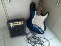 Benson electric guitar and amp