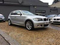 BMW 1 SERIES 2.0 118d M Sport 5dr (silver) 2010