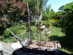 Folk Art Ship Model - Nautical