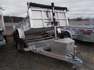 Remorque Dompeur Aluminium 6X10 7K Dump Trailer