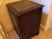 Reproduction Mahogany Veneer Filing Cabinet
