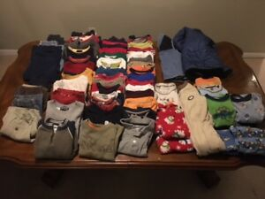Large lot of boys clothes; Size 4: $40.00