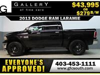 2013 DODGE RAM LARAMIE LIFTED EVERYONE APPROVED $0 DOWN $279/BW!