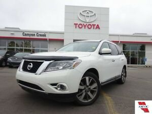 2014 Nissan Pathfinder PLATINUM 7 PASS 4WD/ CLEAN CARPROOF/ 1 OW